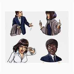 Pulp Fiction Small Glasses Cloth (2 Side) by digitalartjunkie