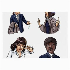Pulp Fiction Large Glasses Cloth by digitalartjunkie