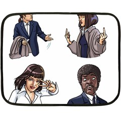 Pulp Fiction Double Sided Fleece Blanket (mini)  by digitalartjunkie