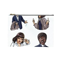 Pulp Fiction Cosmetic Bag (large) by digitalartjunkie