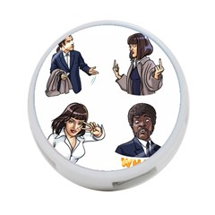 Pulp Fiction 4 Port Usb Hub (two Sides) by digitalartjunkie