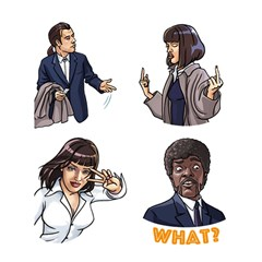 Pulp Fiction Shower Curtain 60  X 72  (medium)  by digitalartjunkie