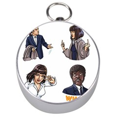 Pulp Fiction Silver Compasses by digitalartjunkie