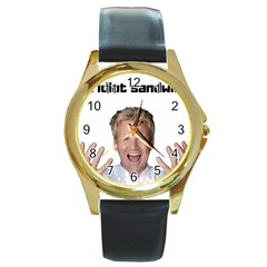 Gordon Ramsay Round Gold Metal Watch by digitalartjunkie