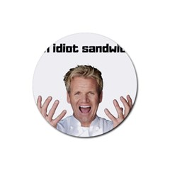 Gordon Ramsay Rubber Round Coaster (4 Pack)  by digitalartjunkie