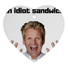 Gordon Ramsay Heart Ornament (two Sides) by digitalartjunkie