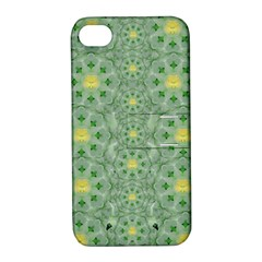 Summer Fantasy Apple Bloom In Seasonal Nature Apple Iphone 4/4s Hardshell Case With Stand by pepitasart