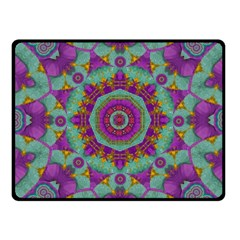 Water Garden Lotus Blossoms In Sacred Style Fleece Blanket (small) by pepitasart