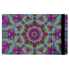 Water Garden Lotus Blossoms In Sacred Style Apple Ipad 2 Flip Case by pepitasart