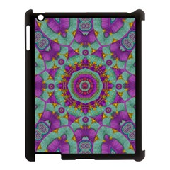 Water Garden Lotus Blossoms In Sacred Style Apple Ipad 3/4 Case (black) by pepitasart