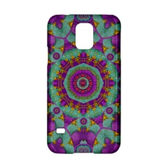 Water Garden Lotus Blossoms In Sacred Style Samsung Galaxy S5 Hardshell Case  by pepitasart