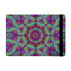 Water Garden Lotus Blossoms In Sacred Style Ipad Mini 2 Flip Cases by pepitasart