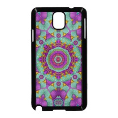 Water Garden Lotus Blossoms In Sacred Style Samsung Galaxy Note 3 Neo Hardshell Case (black) by pepitasart