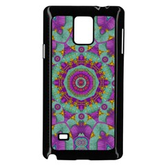 Water Garden Lotus Blossoms In Sacred Style Samsung Galaxy Note 4 Case (black) by pepitasart