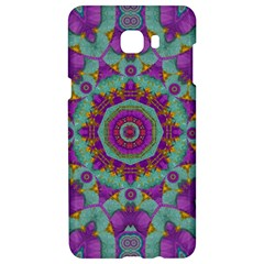 Water Garden Lotus Blossoms In Sacred Style Samsung C9 Pro Hardshell Case  by pepitasart