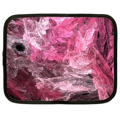 Pink Crystal Fractal Netbook Case (large) by bloomingvinedesign