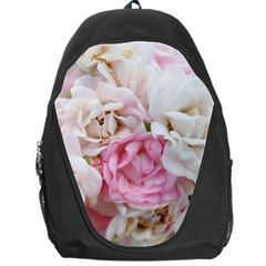 Pink And White Flowers Backpack Bag