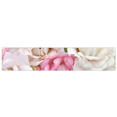 Pink And White Flowers Small Flano Scarf