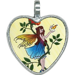 Rose Fairy Heart Necklace