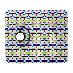 Retro Blue Yellow Brown Teal Dot Pattern Samsung Galaxy S  Iii Flip 360 Case by BrightVibesDesign