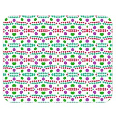 Retro Purple Green Pink Pattern Double Sided Flano Blanket (medium)  by BrightVibesDesign