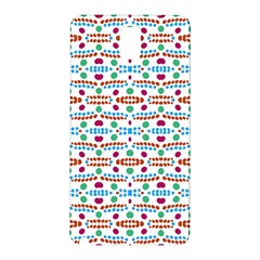 Retro Pink Green Blue Orange Dots Pattern Samsung Galaxy Note 3 N9005 Hardshell Back Case by BrightVibesDesign