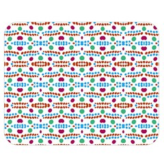 Retro Pink Green Blue Orange Dots Pattern Double Sided Flano Blanket (medium)  by BrightVibesDesign