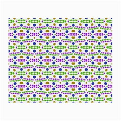 Retro Blue Purple Green Olive Dot Pattern Small Glasses Cloth (2-side) by BrightVibesDesign