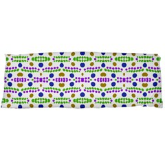 Retro Blue Purple Green Olive Dot Pattern Body Pillow Case Dakimakura (two Sides) by BrightVibesDesign