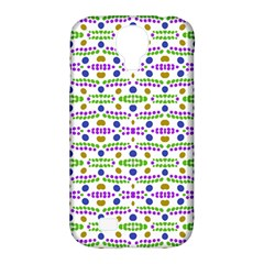 Retro Blue Purple Green Olive Dot Pattern Samsung Galaxy S4 Classic Hardshell Case (pc+silicone) by BrightVibesDesign