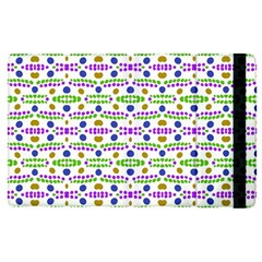 Retro Blue Purple Green Olive Dot Pattern Apple Ipad Pro 9 7   Flip Case by BrightVibesDesign