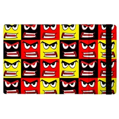 Angry Face Apple Ipad 2 Flip Case by ArtworkByPatrick