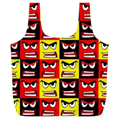 Angry Face Full Print Recycle Bag (xl) by ArtworkByPatrick