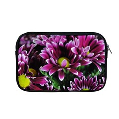 Maroon And White Mums Apple Macbook Pro 13  Zipper Case