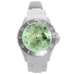 Wonderful Flowers In Soft Colors Round Plastic Sport Watch (l) by FantasyWorld7