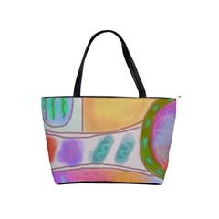 Funky Abstract Art Classic Shoulder Handbag by paintedpurses
