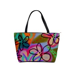 Wild Flowers Abstract Art Classic Shoulder Handbag by paintedpurses