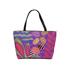 Funky Abstract Floral Classic Shoulder Handbag by paintedpurses