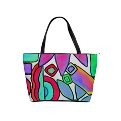 Funky Flowers Abstract Art Classic Shoulder Handbag