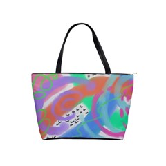 Colorful Abstract Art Classic Shoulder Handbag by paintedpurses