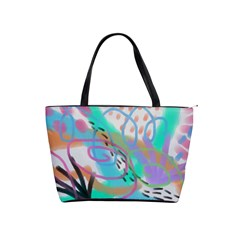 Original Abstract Art Classic Shoulder Handbag by paintedpurses