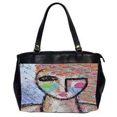 Wild Woman Abstract Art Oversize Office Handbag (2 Sides) by paintedpurses