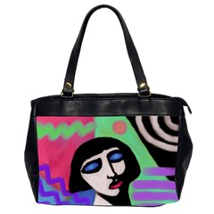 Funky Abstract Art Oversize Office Handbag (2 Sides)