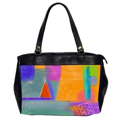 Wild Abstract Art Oversize Office Handbag (2 Sides) by paintedpurses