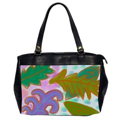 Leaves Abstract Art Oversize Office Handbag (2 Sides) by paintedpurses