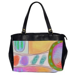 Original Abstract Painting Oversize Office Handbag (2 Sides) by paintedpurses