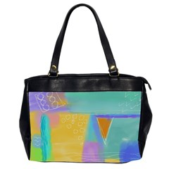 Colorful Abstract Art Oversize Office Handbag (2 Sides)