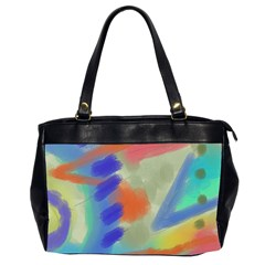 Original Abstract Art Oversize Office Handbag (2 Sides) by paintedpurses