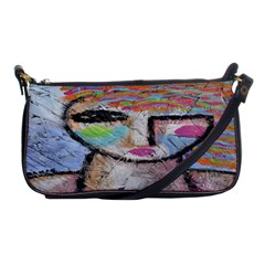 Wild Woman Abstract Art Shoulder Clutch Bag by paintedpurses