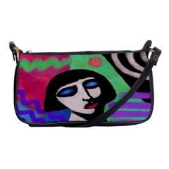 Funky Abstract Art Shoulder Clutch Bag by paintedpurses
